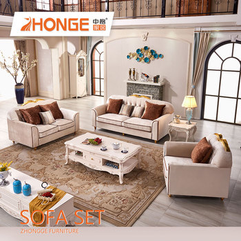 High Quality Promotional Modern Luxury Chesterfiel European Style Sectional Royal Sofas New Clic Wood Frame Fabric Sofa View