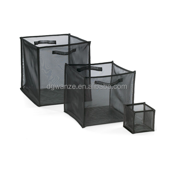 clear mesh cube storage with handles