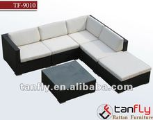 popular patio rattan sofa Set garden wicker modular sofas living room furniture