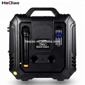 Home Theatre Rechargeable video bt speaker with big screen and karaoke function