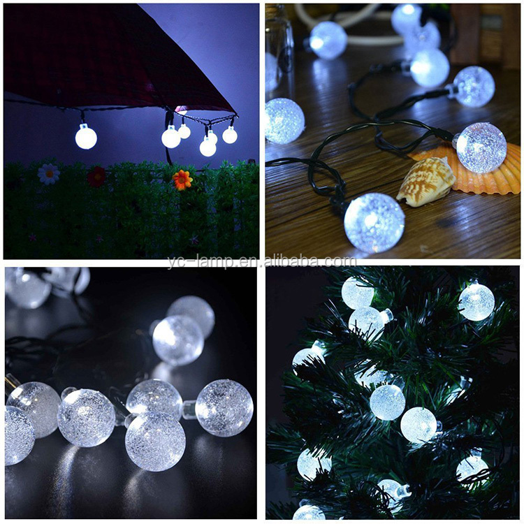 110v/220v 10m outdoor waterproof christmas tree decoration solar led ball string lights