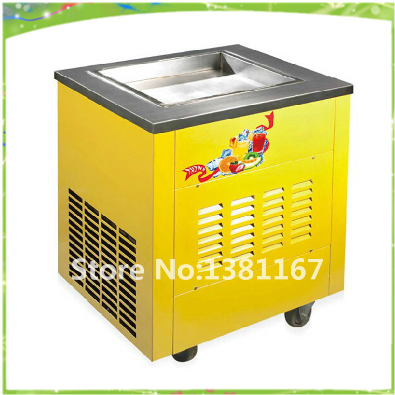 High efficiency single pan fried ice cream machine and 220V fry ice machine&ice pan machine\ freeze milk maker