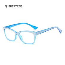 SUERTREE Bling антибликовые очки для чтения Glister весенние петли компьютерные очки удобные женские мужские анти-лучи очки BM361(Китай)