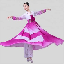 New China National Dress Costume Hanfu perform long coats Female Classical Dance Chinese Studies Costumes Support Customization
