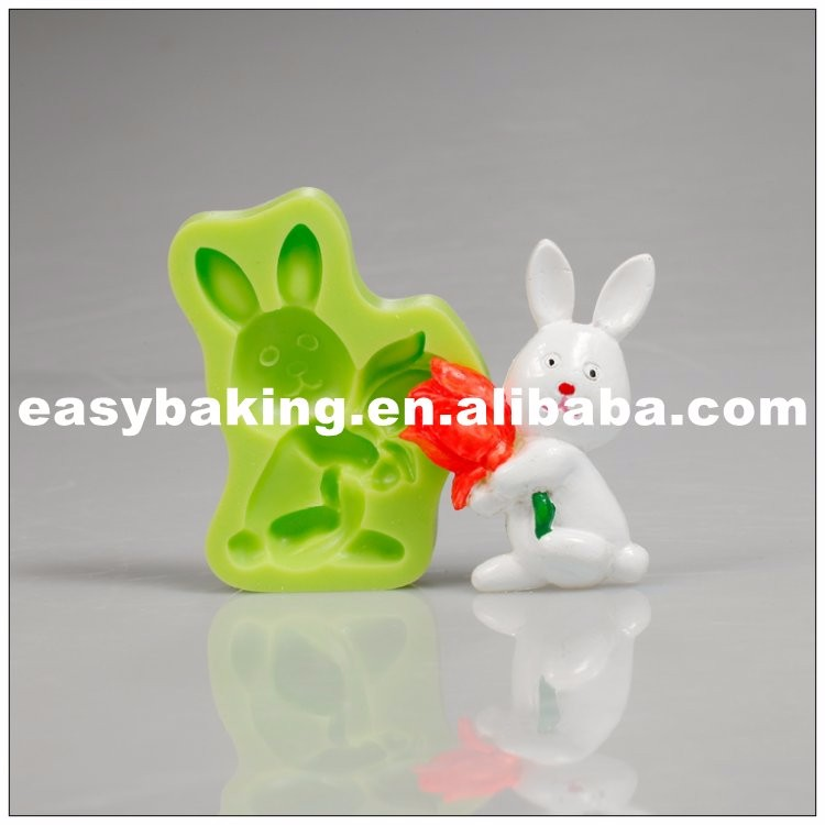 es-0102_High Quality Easter Bunny With Tulips Cake Decoration Silicone Sugarpaste Mold_9154.jpg