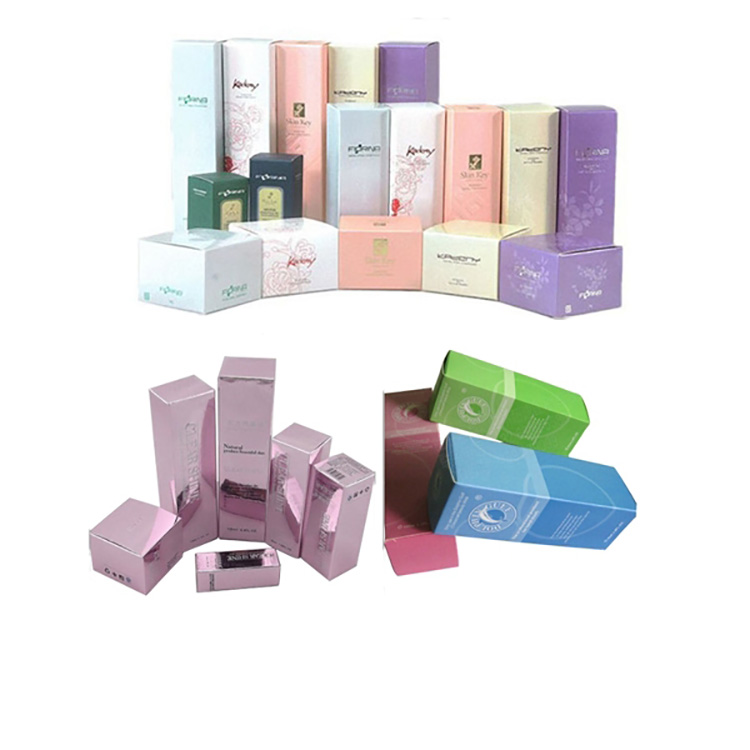 best selling hot stamping printing cosmetic box package folded paper package box