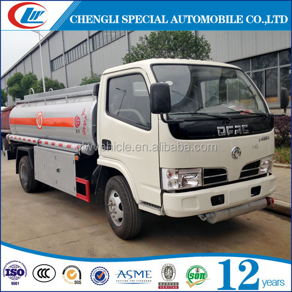 DONGFENG 4X2 5CBM Chemical Oil Truck 5M3 Fuel Delivery Truck 5000L Mini Fuel Truck For Sale