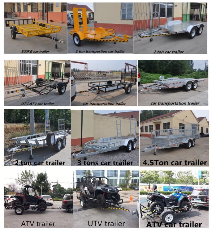 Di alta qualità singolo asse piccolo di trasporto auto utility atv rimorchio