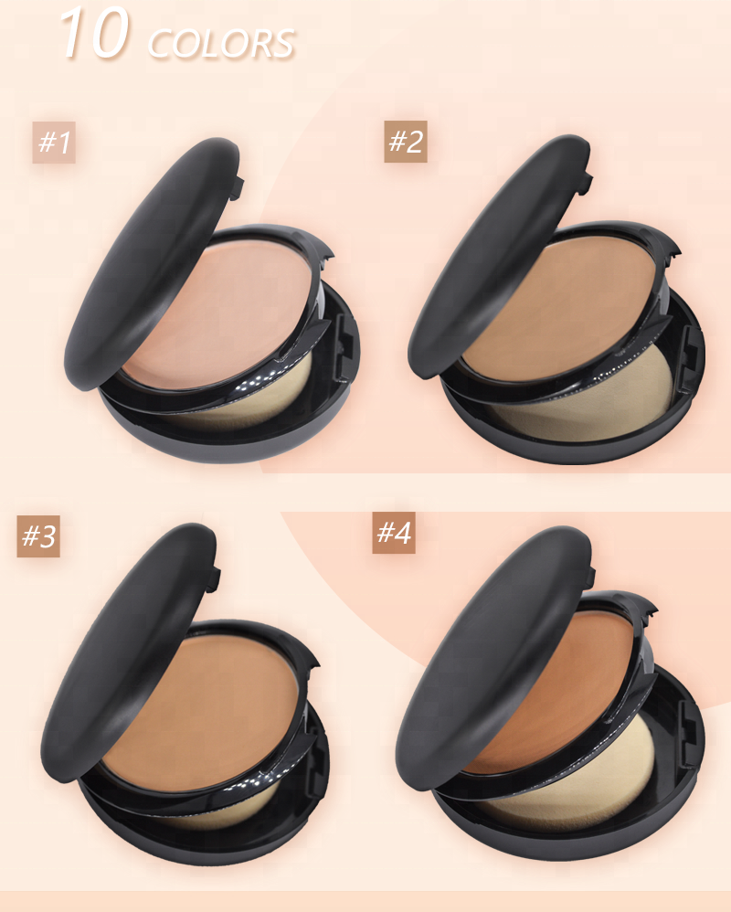 Make Up Face Foundation Oil Control Long-lasting Whitening Pressed Compact <strong>Powder</strong> With Muff
