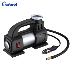 Portable 12V Air Compressor Car Tyre Inflator Heavy Duty Pump Tire Inflator Inflatable Pump With LED Light