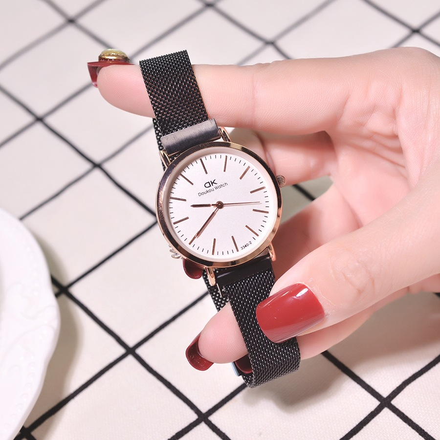 reloj mujer big 2019 New Design Ready Stock Magnet Mesh Belt Fashion Ladies Watch Quartz Wrist Watch Women