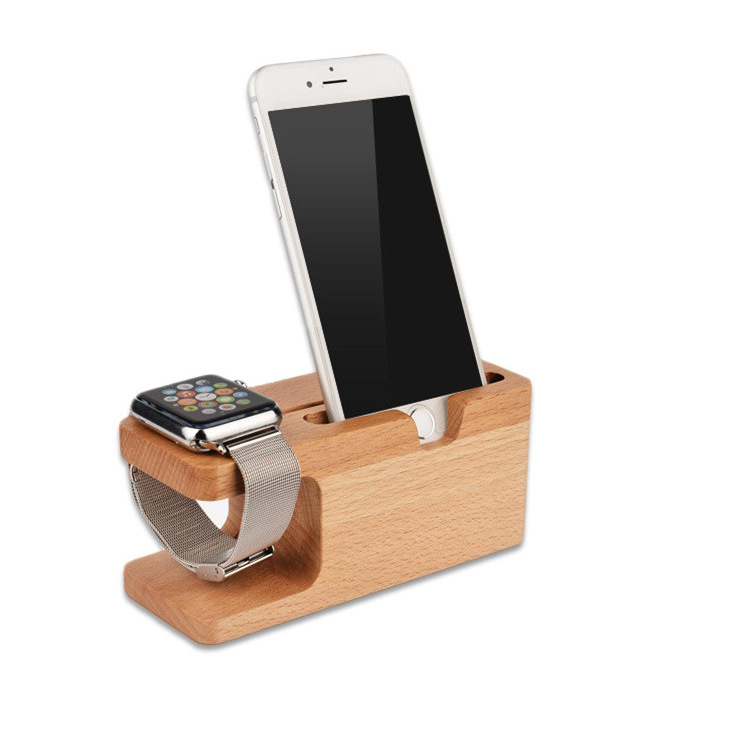 Multifunctional Wooden Mobile Phone Holders Portable Charge Bracket Support
