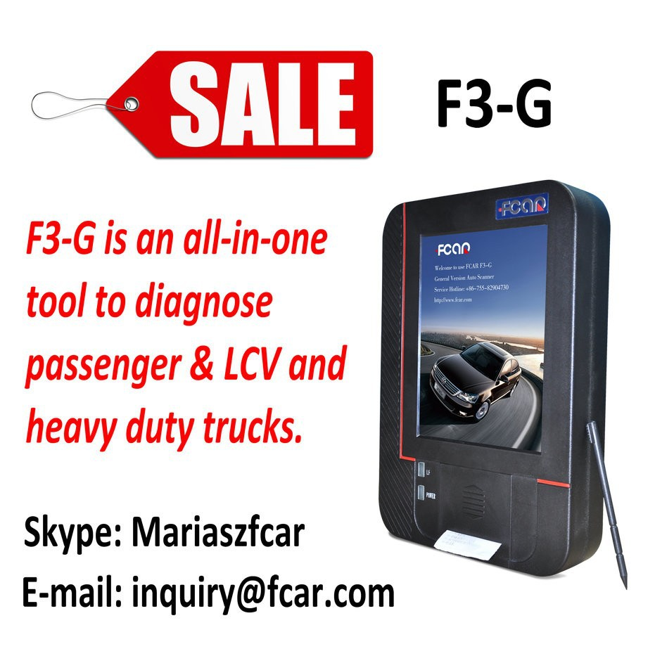 FCAR F3-G Vehicle ECU used car diagnostic scanner For Car+Heavy Duty Truck