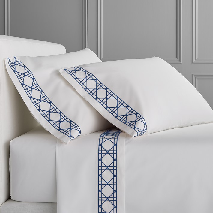 Luxury Embroidery White Pure Cotton Hotel Bed Linens