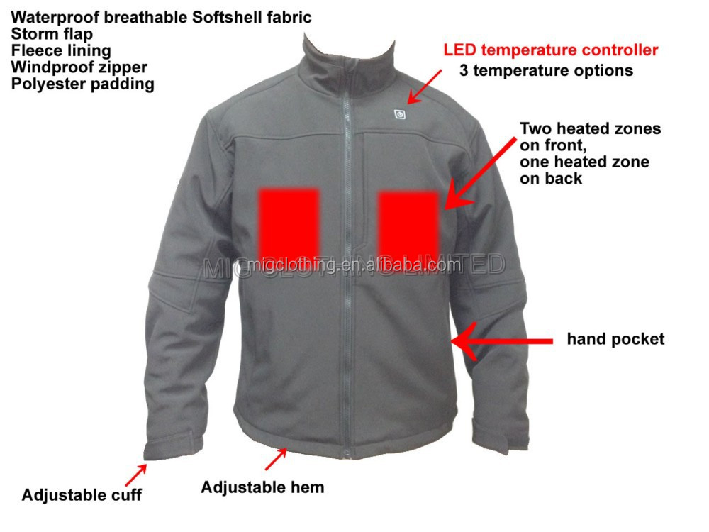 Battery Heated Jacket Heated Clothing For Winter Buy