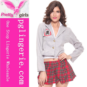 Hot Sale 3pcs School Girls Costume Long Sleeves Japanese Sexy Girls School Students