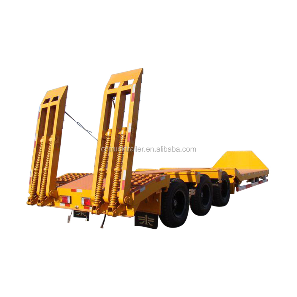Used lowest price low bed truck trailer 60 ton low bed trailer for sale