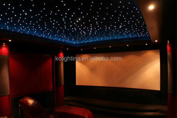 Led rgb colour optical fiber home cinema star ceiling and - Cielo estrellado fibra optica ...
