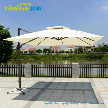 Waterproof Fabric Patio Umbrella Parts For Prices With Marble Base