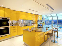 Yellow Lacquer High Gloss Kitchen Cabinets DJ-K289