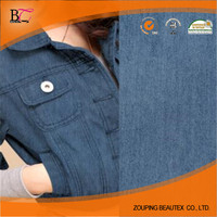 Hot Sale 100% cotton soft comfortable twill denim fabric for shirt