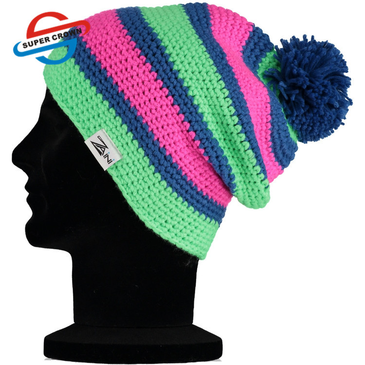 Custom Professional Factory Supply High Quality Winter ladies  Beanie Knitted Hat for Adults