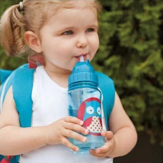 Зоопарк младенцы комикс животное солома чаша младенцы фляжка для воды питьевой чашки нет - токсичных BPA - спорт бутылки