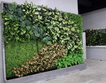 Jardin De Mur Artificiel De Mur Vertical De Plante Artificielle Protégée  Par Uv De Décoration De Jardin En Gros Du Fournisseur De La Chine - Buy Mur  ...