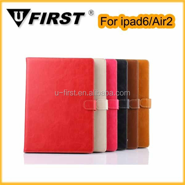 High quality PU leather Case For Ipad Air 2 with Sleep Wake