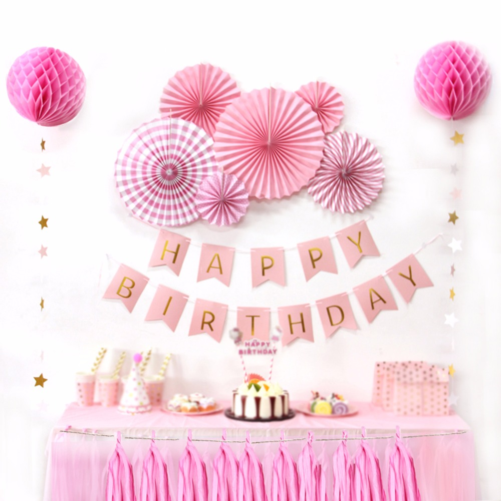 Sunbeauty New Design Happy Birthday Kit Decoration Paper Picks For