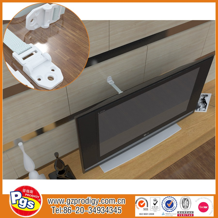 TV & Furniture Anti tip Safety Straps, Earthquake Safe, Child & Baby Proof Mounting Hardware