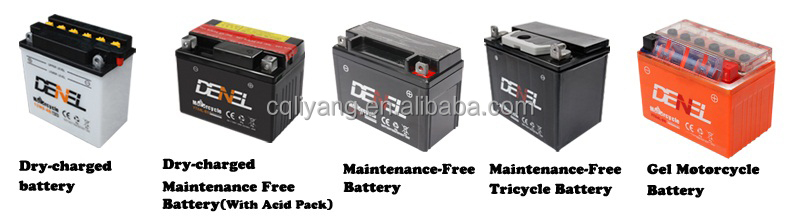 DENEL motorcycle gel battery,12v motorcycle battery,12v7ah kids battery operated motorcycles