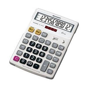 Sharp rubber Fitness Calculators nice size 12-digit EL-S442X (japan import)