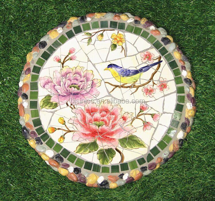 Ceramics Mosaic Stepping Stone, Special Design Decorative Paving Stone,  Outdoor Porcelain Stepping Stone (