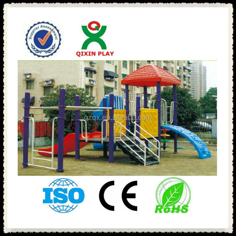 Attractive Malaysia children play ground, best backyard playsets, cheap garden slides QX-11049B