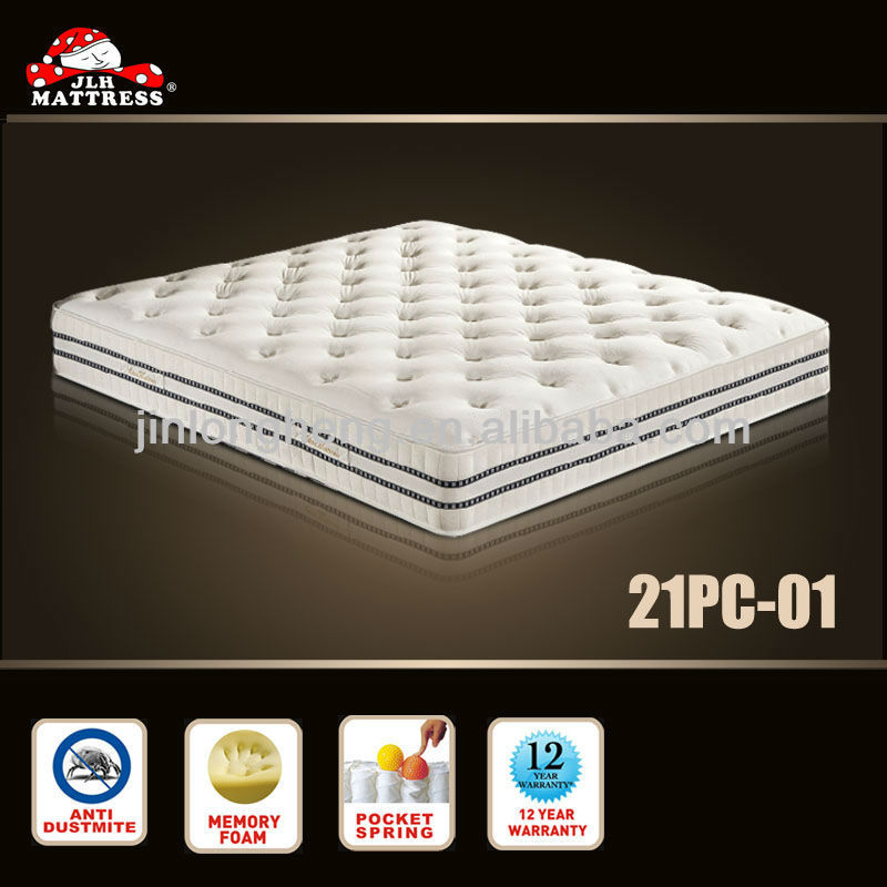 memory & convoluted foam 3 zoned pocket spring mattress