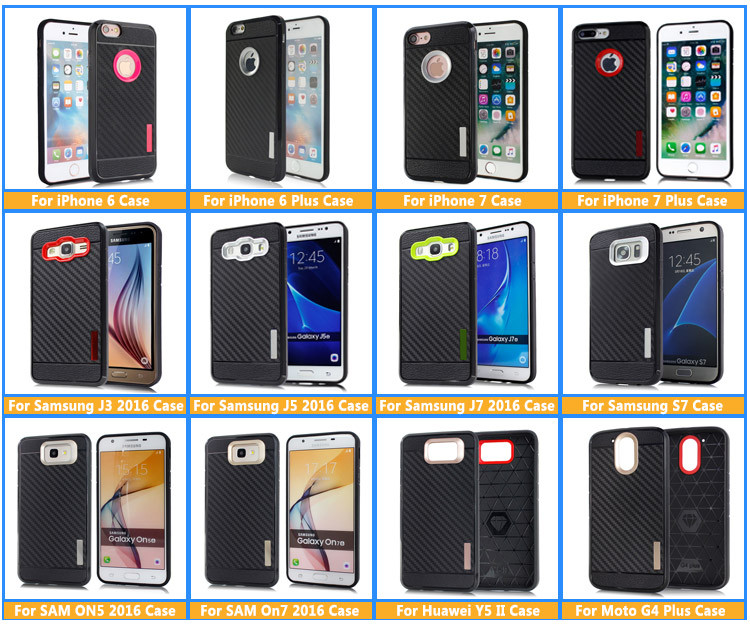 Durable Colors Bumper Hard Cover Soft TPU Protective Phone Case For iPhone 7/ 7 Plus