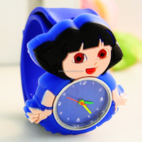 wholesale top quality custom silicone cartoon rubber watch for kids