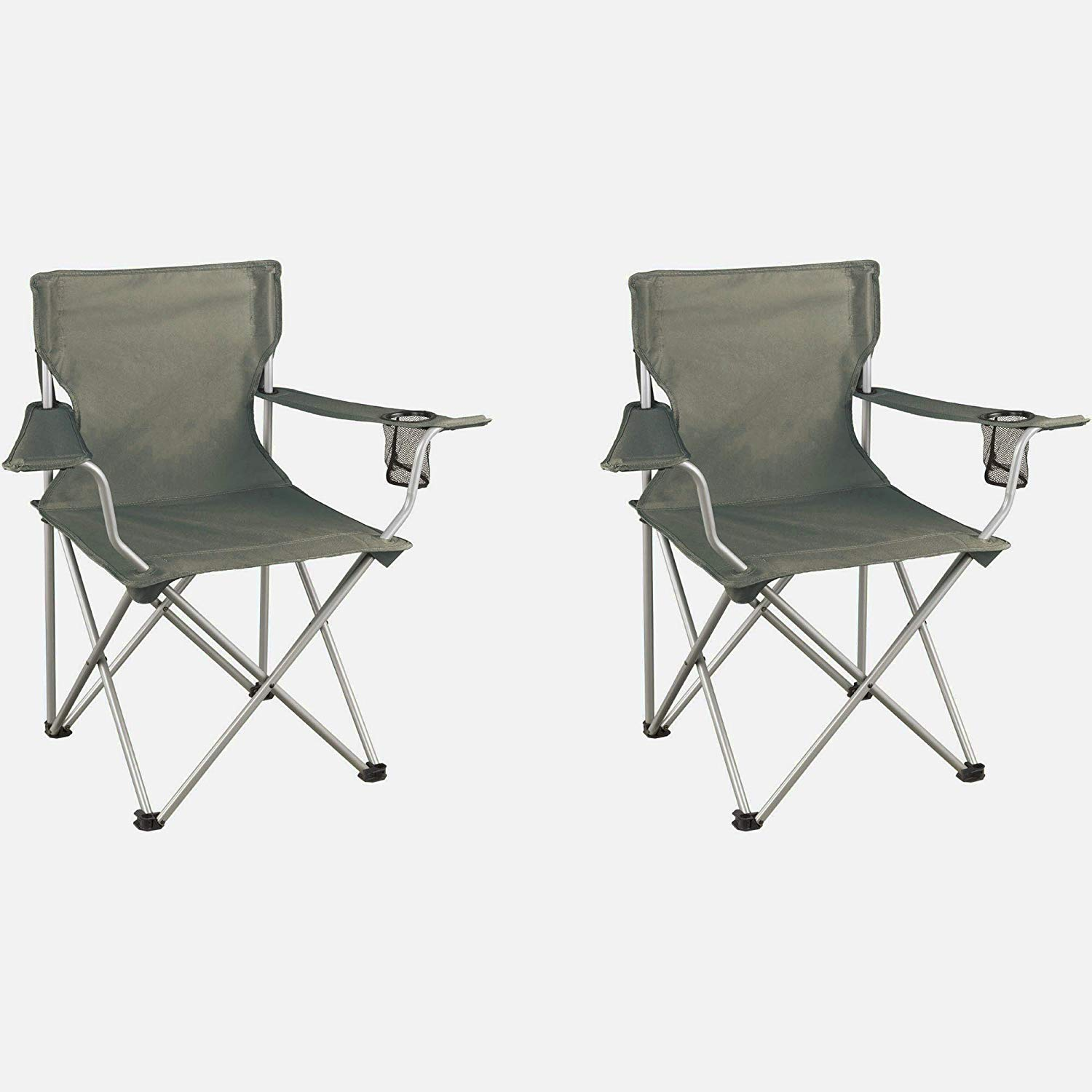 Huge Comfy Chair, Two Pieces, Grey Color, Steel Frame, Durable And High Resistant Construction, Lightweight, An Attractive And Modern Design, Portable, Foldable, Easy Setup, Low Maintenance & E-Book.