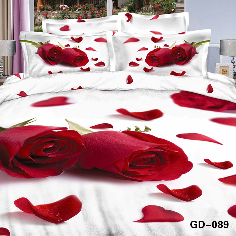 atemberaubende rote und gelbe rose 3d bett set 3d rosa rote rose bettw sche aus gyptischer. Black Bedroom Furniture Sets. Home Design Ideas