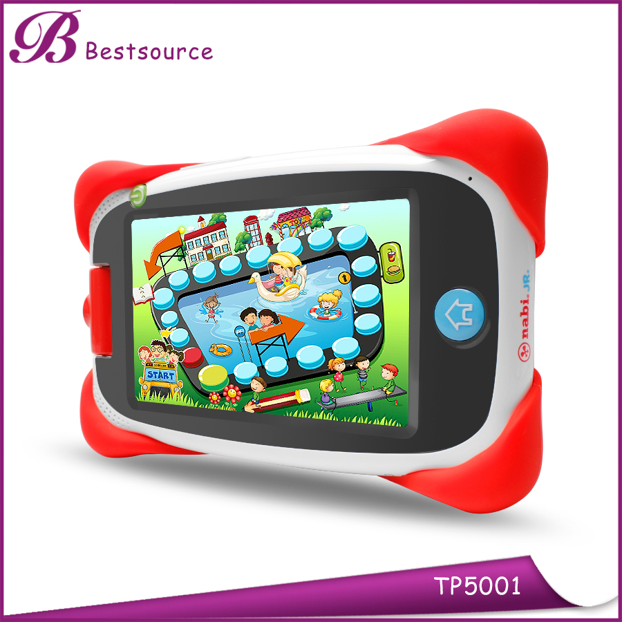 Hot Sale 5 inch 1GB 8GB Quad Core 180 degree Rotating Cameras kids learning WiFi Bluetooth 4.0 Android 4.4 tablet PC