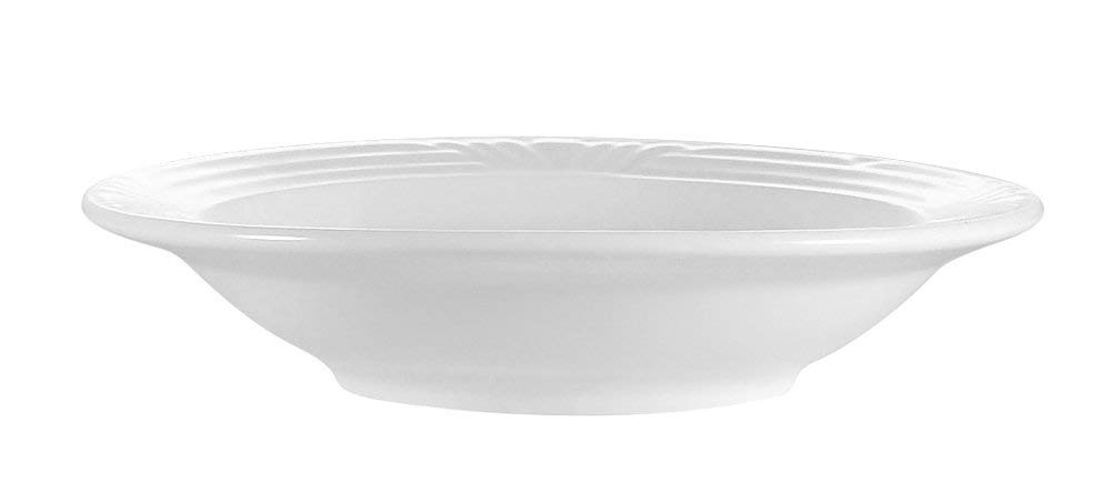 CAC China CRO-3 Corona 8-1/2-Inch 12-Ounce Super White Porcelain Soup Bowl, Box of 24