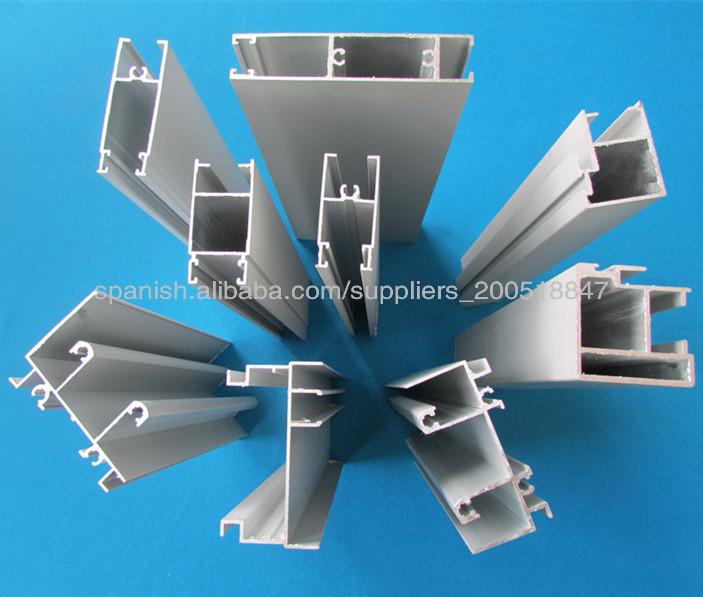 Perfil de aluminio para ventanas y puertas material de - Tipos de perfiles de aluminio ...