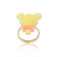 kids plastic gold plated cartoon cute design lovely sweet bear ring for children