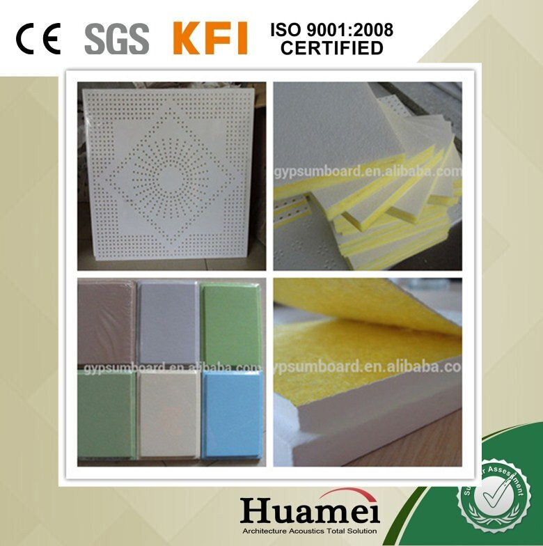 china factory/manufacturer fiberglass noise absorbing / noise reducing fireproof wall panel