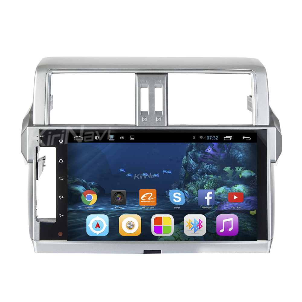 "Kirinavi 10.2"" andriod 6.0 car radio gps for <strong>toyota</strong> <strong>prado</strong> audio steering wheel control 2014 + USB bluetooth"