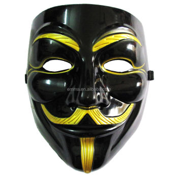Black V For Vendetta Mask For Sale V Line Face Mask Halloween Masks