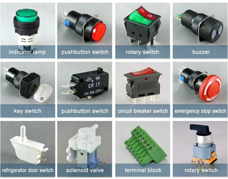 Factory Wholesale led 3 pin 15A AC 120V 220V on off overload protection circuit breaker switch