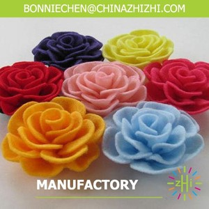 best selling new products handmade decorative wholesale custom felt fabric flowers