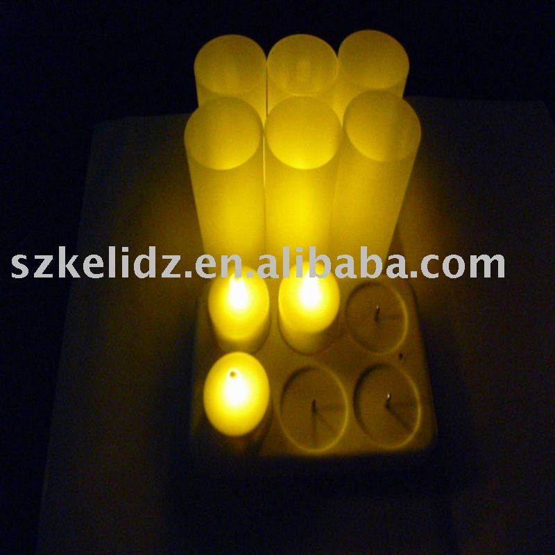 6 rechargeable led candles